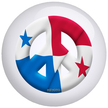 Panama Flag Bowling Ball