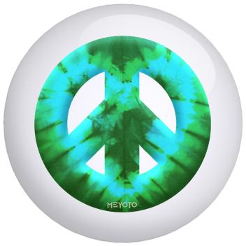 Green Heart Tie Dye bowling ball