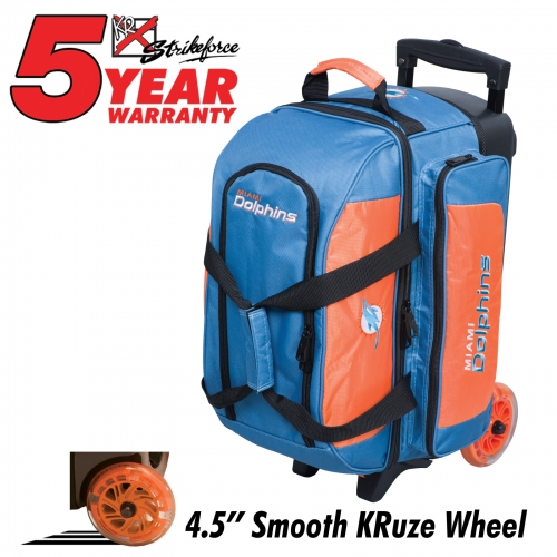 Miami Dolphins Double Roller Bag