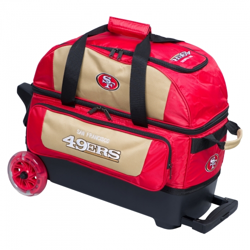 San Francisco 49ers Double Roller Bag