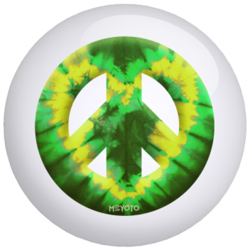 Green Yellow Heart Tie Dye