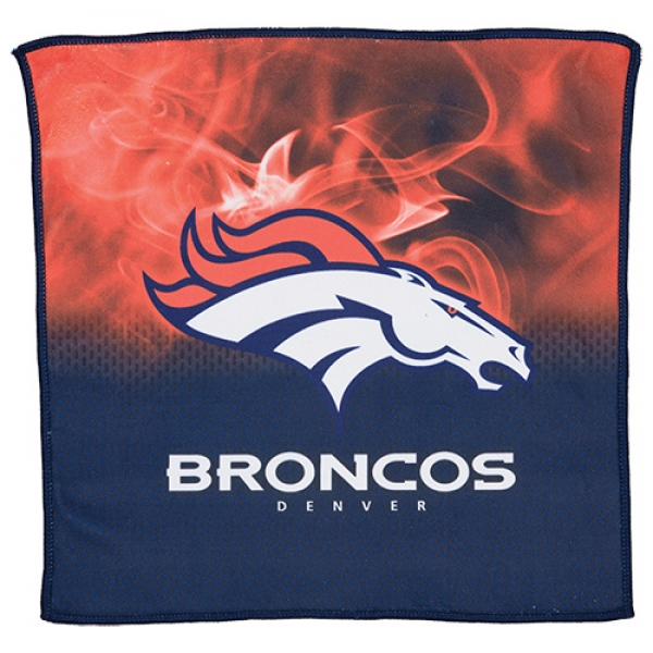 Denver Broncos On Fire Towel