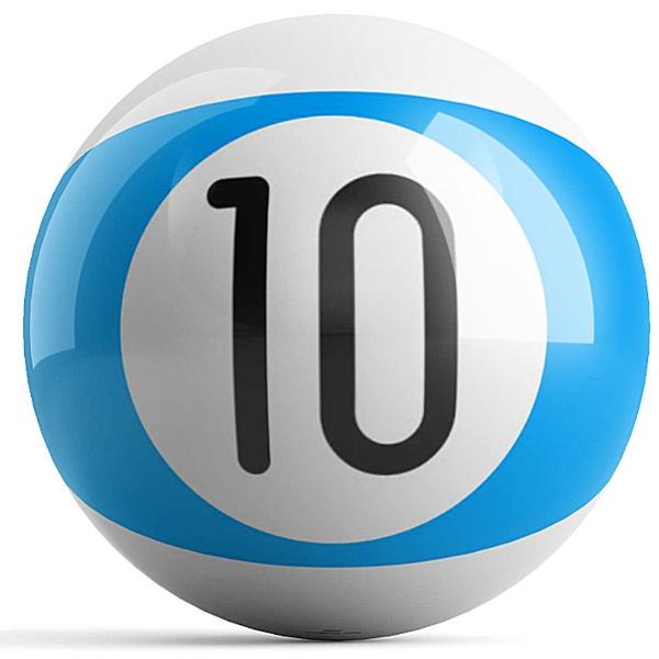 Blue Stripe 10 Ball