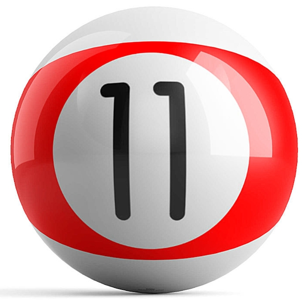 Red Stripe 11 Ball