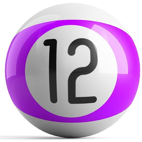 Purple Stripe 12 Ball