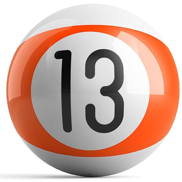 Orange Stripe 13 Ball