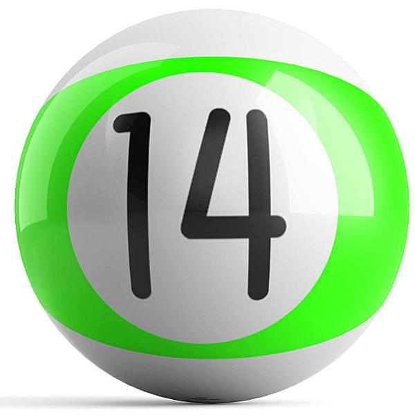 Green Stripe 14 Ball