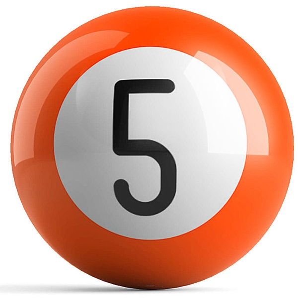 Orange 5 Ball
