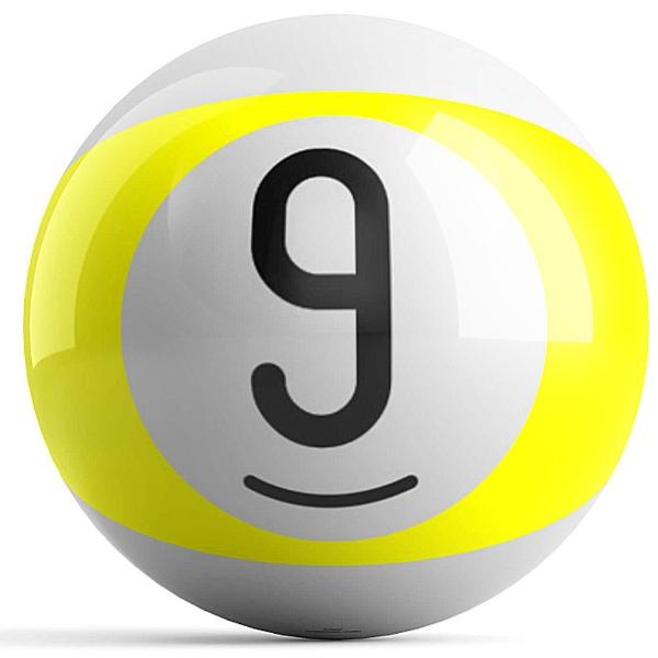 Yellow Stripe 9 Ball