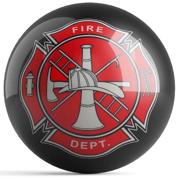 Fire Dept Shield Black