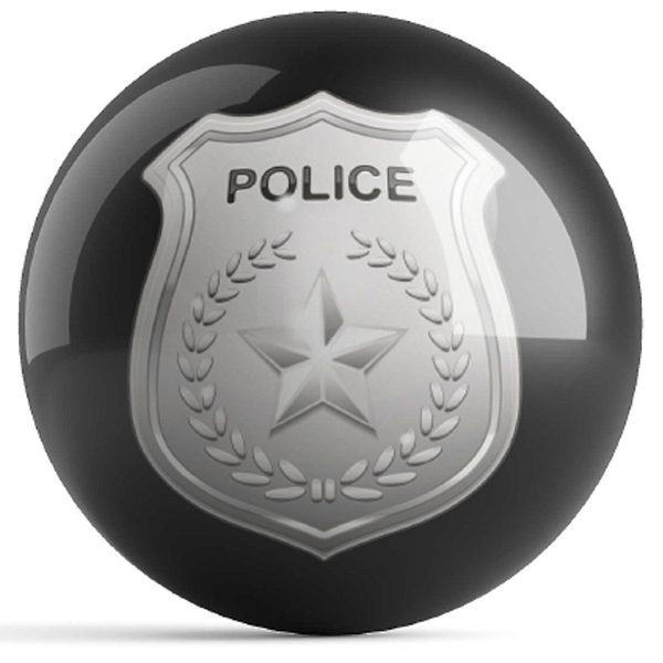 Police Dept Shield Black